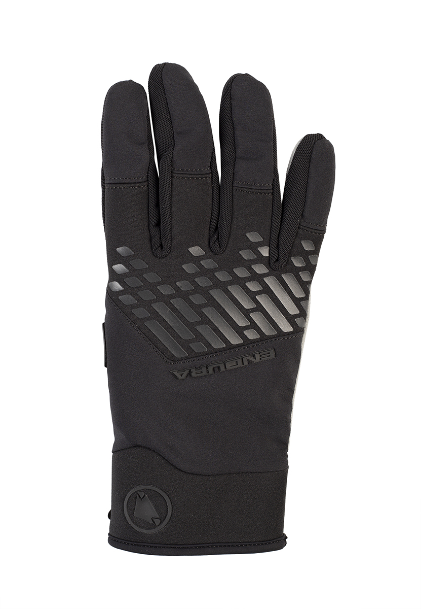 Stretch backhand fabrics with knuckle protection panel