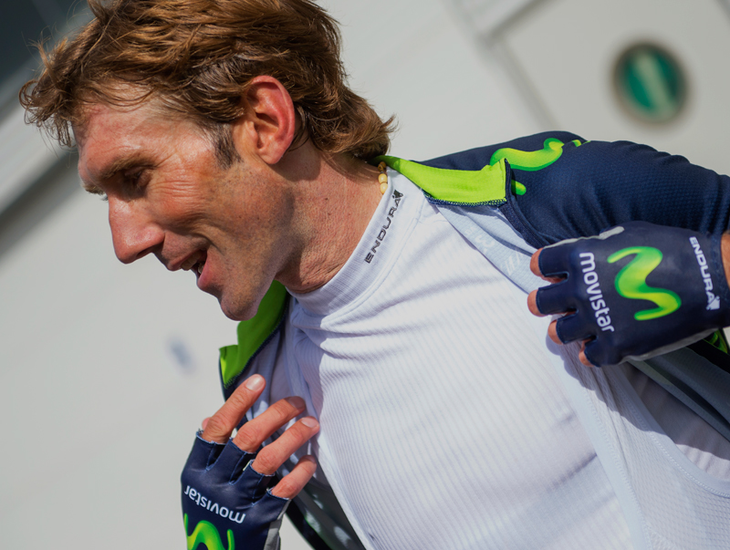 Transrib Baselayer worn by Movistar Team