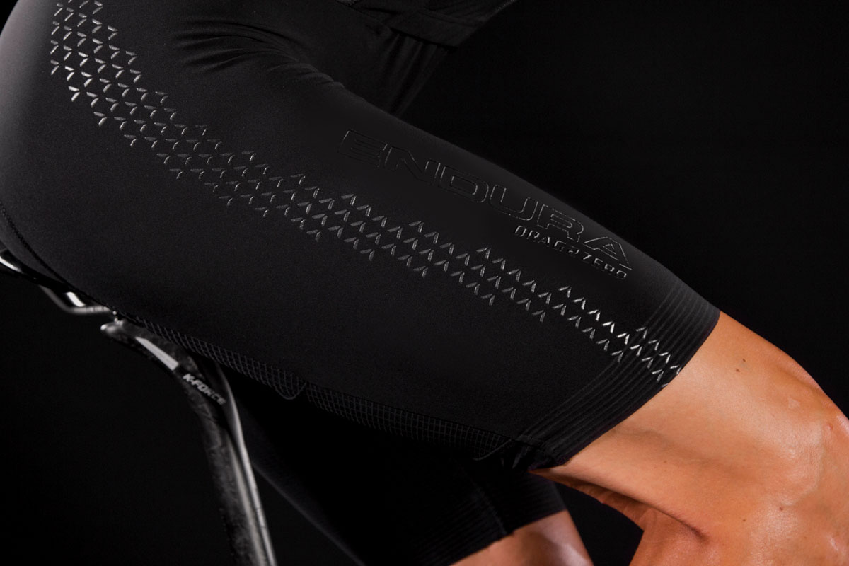 Multi-fabric construction with SST™ leg panels for aero optimisation