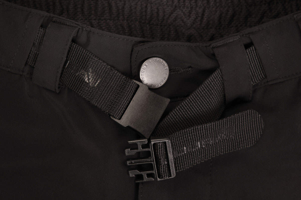 Stretch waistband with integral belt