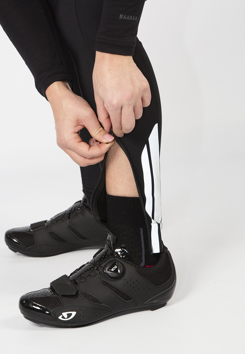 Ankle zip for easy access