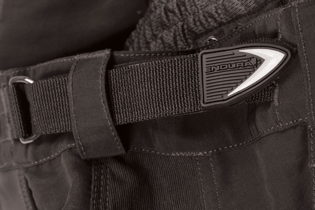 Wicking waist band with integral elastication and D-ring construction for adjustment/ Heavy duty double and triple stitch on all seams