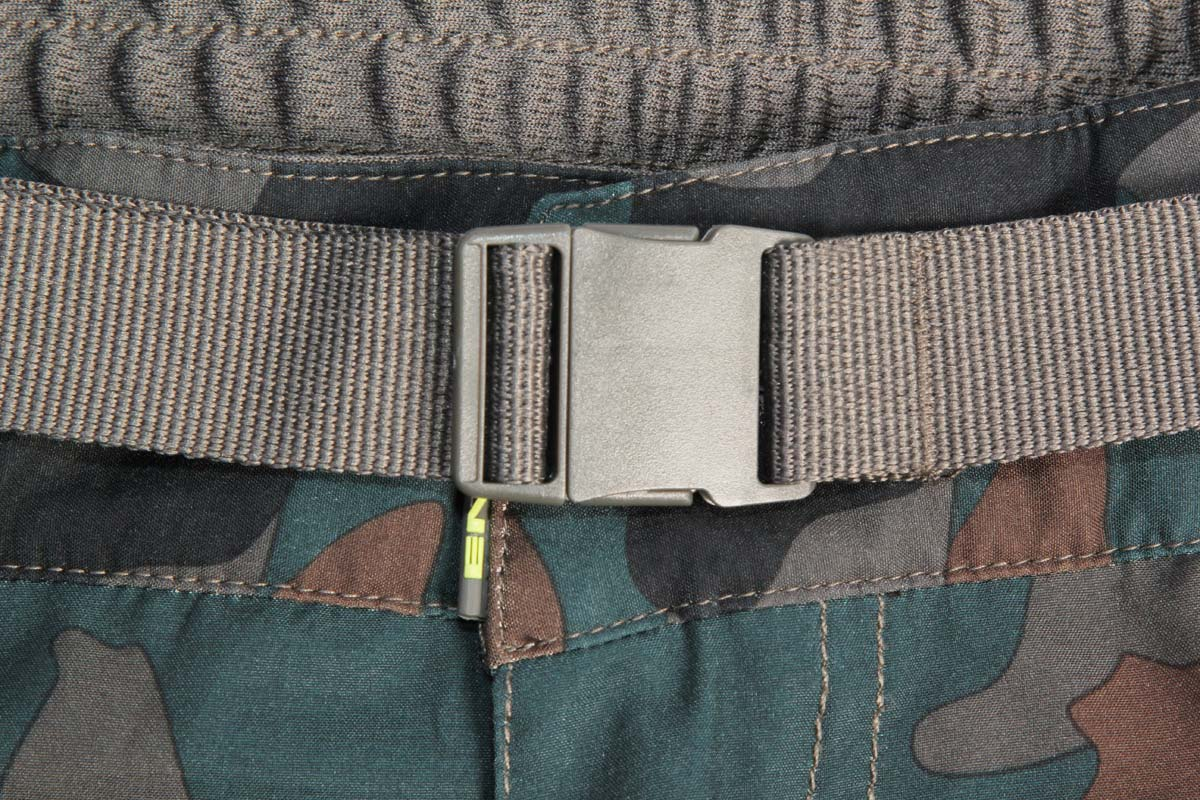 Elasticated waistband with integral belt