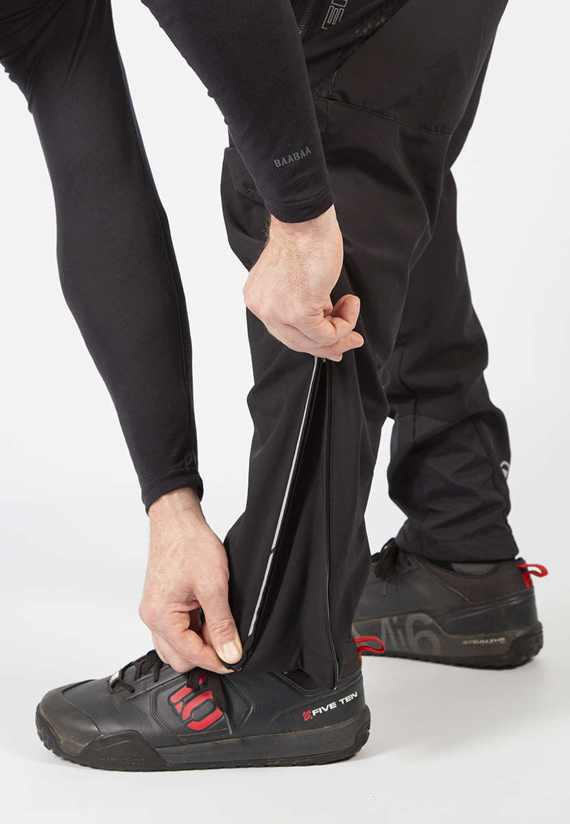 Durable inner ankle panels and outer ankle zip with gusset