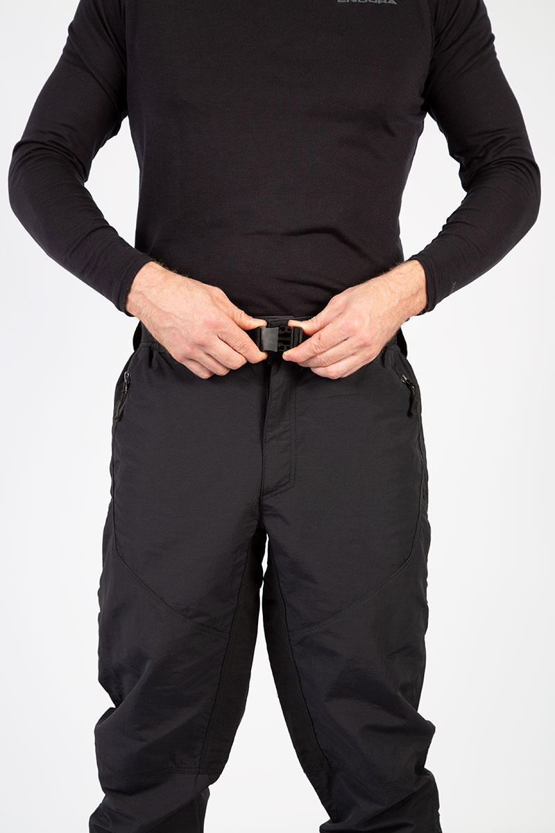 Rear elasticaed waistband and adjustable belt
