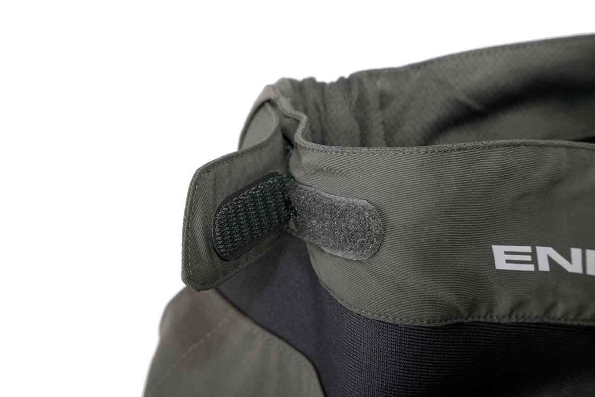 Wicking waistband with Velcro adjusters