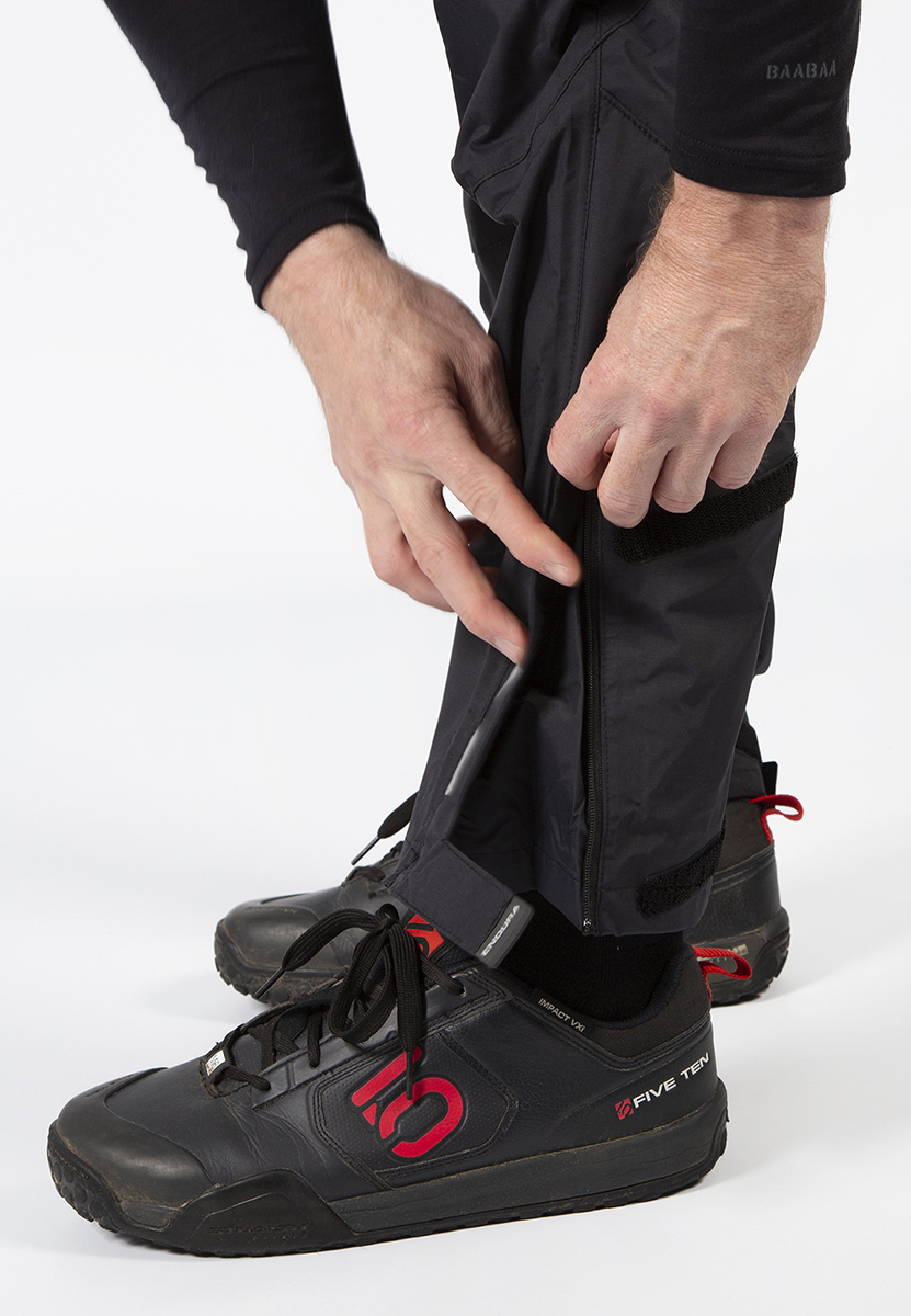 Ankle Zip with storm flap and Velcro® adjustors