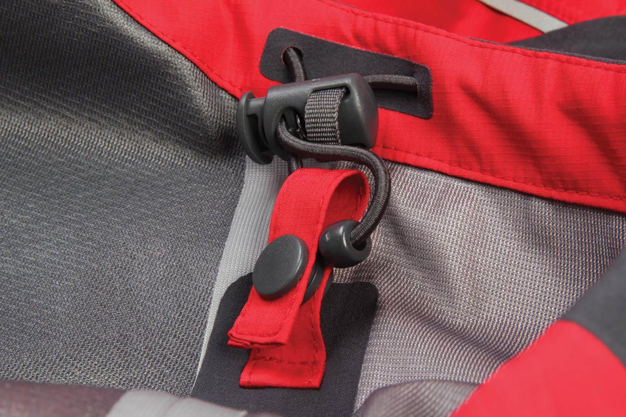 Adjustable cuffs, hem and collar