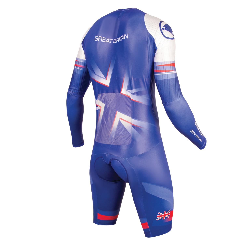 Team GB Men's Drag2Zero Encapsulator TT Suit back
